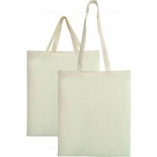 Τσάντα πάνινη εκρού